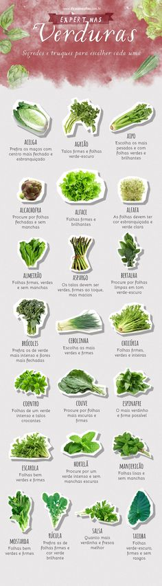 Guia de compra: aprenda como escolher frutas, legumes e verduras Buying Guide: Learn How to Choose Fruits and Vegetables Vegan Life, Healthy Life, Flat Belly Diet, 1200 Calorie Diet, Nutrition, Natural Life, Natural Detox, Going Vegan, Fruits And Vegetables