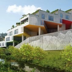 "Interesting housing units called ""Mountain Dwellings"" by Bjarke Ingels Group (BIG) architects."
