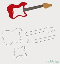 Sarah Hurley Blog: You Rock Card & Guitar Template