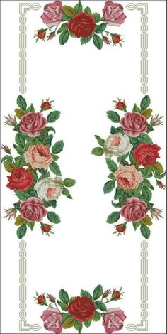 This Pin was discovered by SAH Cross Stitch Love, Cross Stitch Borders, Cross Stitch Flowers, Cross Stitch Designs, Cross Stitching, Cross Stitch Embroidery, Cross Stitch Patterns, Embroidery Patterns Free, Embroidery Designs