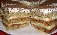 Prajitura cu foi si zahar ars Romanian Desserts, Tiramisu, Sweet Treats, Deserts, Caramel, Cooking Recipes, Favorite Recipes, Sweets, Ethnic Recipes