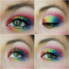 Rainbow Eyes - Clown Doll Look