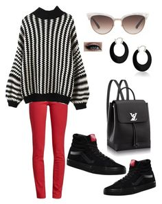 """""""Black & Red"""" by andreolam on Polyvore featuring Barbour, Vans, Gucci and Bling Jewelry"""