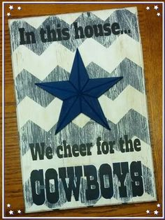 "12""x18"" rustic Dallas Cowboy sign"
