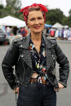 Mara West at The Rose Bowl Flea Market | ADVANCED STYLE