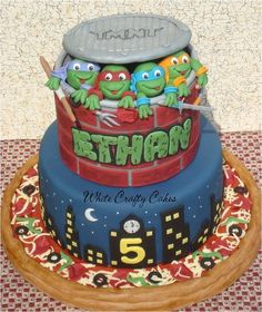 Ninja Turtles Cake - by whitecrafty @ CakesDecor.com - cake decorating website