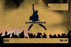 Diseño de tarjeta descuento VIP 25 para Sala Creedence de Zaragoza