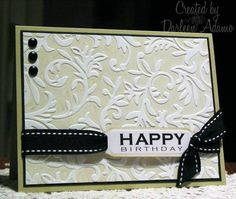 CAS75~Embossed Generic Birthday Cards and Paper Crafts at Splitcoaststampers