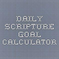 Daily Scripture Goal Calculator