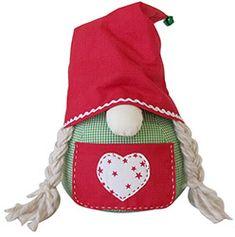 Nähanleitung - Weihnachtswichtel-Türstopper - Buttinette Bastelshop - buttinette Bastelshop