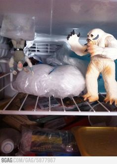 Star Wars is happening in this freezer.      Weird!