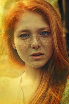 Untitled by Lena Dunaeva, via 500px -- Portrait - Red Hair - Redhead - Ginger - Freckles - Photography
