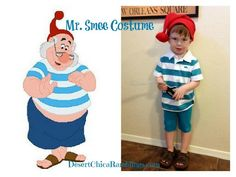 DIY Mr. Smee Kids Costume {Peter Pan Halloween}. So cute and could make accompanying other characters costume :)
