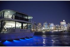 enjoy a christmas work party aboard the Blue Room with seating for up to 400 guests
