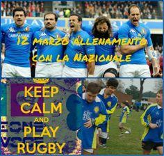 12 marzo 2014 - allenamento del progetto Rugby con la Nazionale Italiana di Rugby!