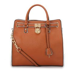Michael Kors Hamilton Specchio Large Brown Totes - factory outlet #style #handbags