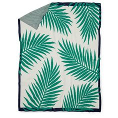 In2Green Tropical Palm Throw (£125) ❤ liked on Polyvore featuring home, bed & bath, bedding, blankets, tropical palm plants, golden palm, tropical palm trees, galaxy bedding and winter blankets