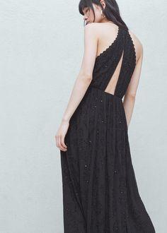Vestito lungo perline | MANGO