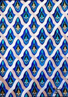 Mosaic detail of the Hassan II Mosque, 2017 (50x70 cm) by Alexandra Kitti Tóth