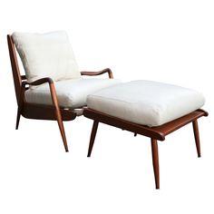 Phillip Lloyd Powell New Hope Lounge Chair and Ottoman Circa 1960s - Todd Merrill
