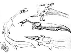 alien sketch dump 2 by PeteriDish on DeviantArt Alien Aesthetic, The Uncanny, Monster Mash, Dragon Art, Aliens, Evolution, Monsters, Concept Art, Sci Fi