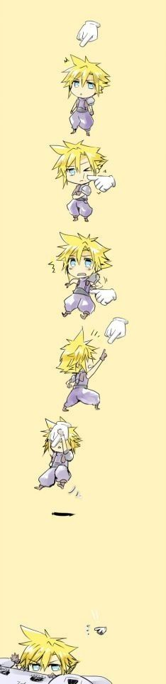 Cloud Strife. Fan art. Final Fantasy VII.
