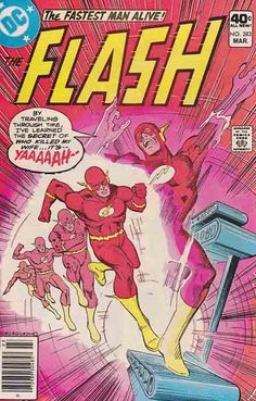 Flash #283  The Flash learns from a taped confession that Professor Zoom is the real murderer of Iris Allen. When the two men confront each other, they become trapped aboard Zoom's cosmic-powered time-sphere, which is going AWOL through time.