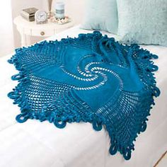 Ravelry: Blue Mandala Throw pattern by Shannon Mullett-Bowlsby - free pattern  I'd love to find the time to make this -- so pretty.