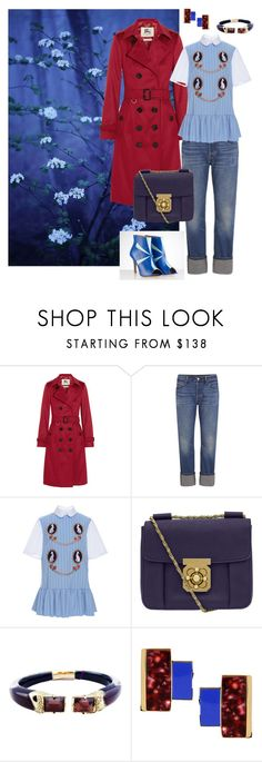 Blue by yaninna-diaz on Polyvore featuring moda, VIVETTA, Burberry, Levi's, Chloé, Alexis Bittar and Égotique