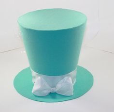 7in. Tiffany and Co. Inspired Top Hat Tiffany Blue by partydreams, $30.00
