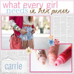 """""""what every girl needs in her purse ♥"""" by the-polyvore-tips-xo on Polyvore"""