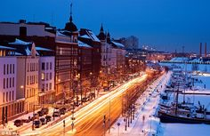 The capital and largest city of Finland, Helsinki was chosen as the World Design Capital for 2012 . Museum Architecture, Places In Europe, Travel And Tourism, Winter Travel, Cheap Travel, Best Cities, Helsinki, Dream Vacations, Paris Skyline