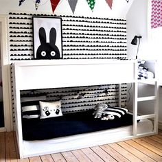 """Learn additional info on """"modern bunk beds for girls room"""". Have a look at our web site. Bunk Beds For Girls Room, Bunk Beds With Stairs, Kids Bunk Beds, Kids Bedroom, Kids Rooms, Small Rooms, Kura Ikea, Ikea Bunk Bed Hack, Sharing Bed"""