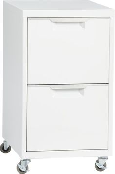 tps white 2drawer filing cabinet
