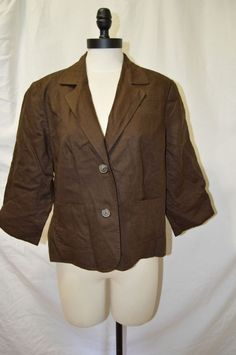 WOMANS BROWN OLD NAVY JACKET SIZE XL #OldNavy #BasicJacket