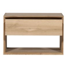 The Oak Nordic Night Stand is clean, simple and built for life. Its enclosed lower space is ideal for storage.