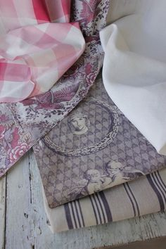 French toile de Jouy percale laundry bag