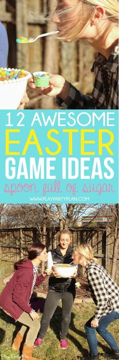 12 Easter games and activities that are perfect for Easter weekend! Everything from Easter egg hunt ideas to Easter minute to win it games!