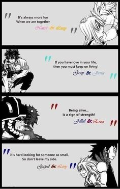 Fairy tail couples!!!
