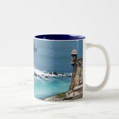 Puerto Rico Taza Two-Tone Coffee Mug Custom Office Retirement #office #retirement