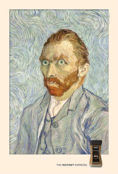 """Nescafè's ad """"The Instant Espresso"""" serie: Van Gogh #coffee"""