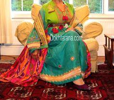#afghan #national  #dress #jewelry #green