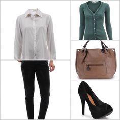 Aposte num cardigan e numa bela camisa para os dias de menos frio. http://tempodemoda.com.br/Florian%C3%B3polis
