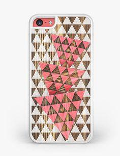 Pink Geometric Diamonds iPhone 5C Case