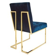 Navy Velvet Dining Chair