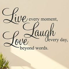 'Live Laugh Love' Wall Sticker Quote - painting & decorating