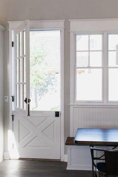 Here's Proof That Dutch Doors Should Have Never Gone out of Style Farmhouse Dutch Door Ideacountryli Split Door, Farm Door, Half Doors, Wood Exterior Door, Diy Exterior Dutch Door, French Doors, Dutch Doors, French Casement Windows, Kitchen Doors