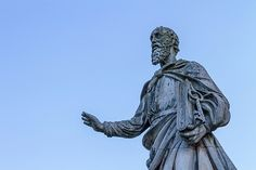 Statue of St. Peter in front of the Basilica in the small town of Eger, Hungary Famous Places, Hungary, Travel Photos, Fine Art America, Lion Sculpture, Statue, Canvas, Prints, Poster