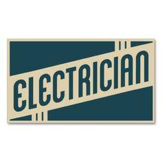 #retro #electrician #business card