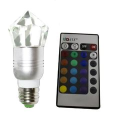 Zehui Crystal Ir Remote Control Ac 110V-220V E27 3W Spotlight Led Light Bulb by Zehui. $17.99. Crystal Led Bulb
